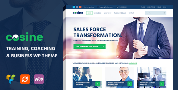 Cosine training coaching business wordpress template cosine training coaching and business wordpress theme is a premium wordpress theme with its design particularly regards to training and coaching as well wajeb Choice Image