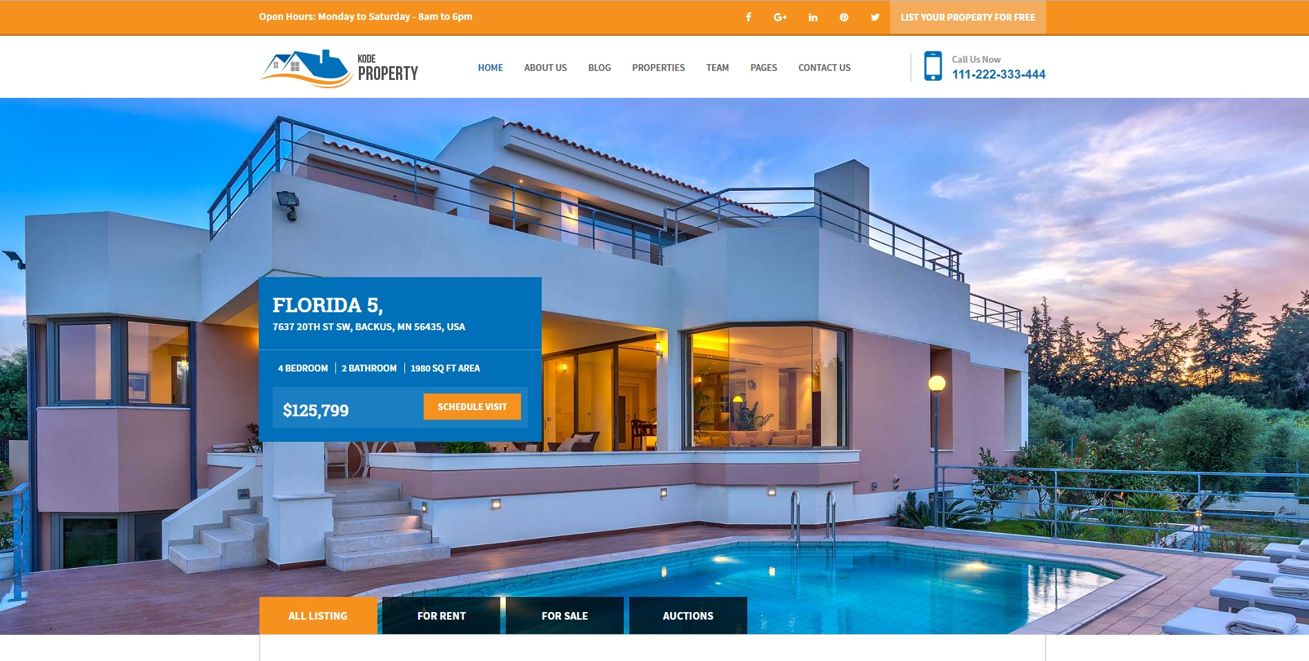 Kode Property Listing - Real Estate WordPress Template