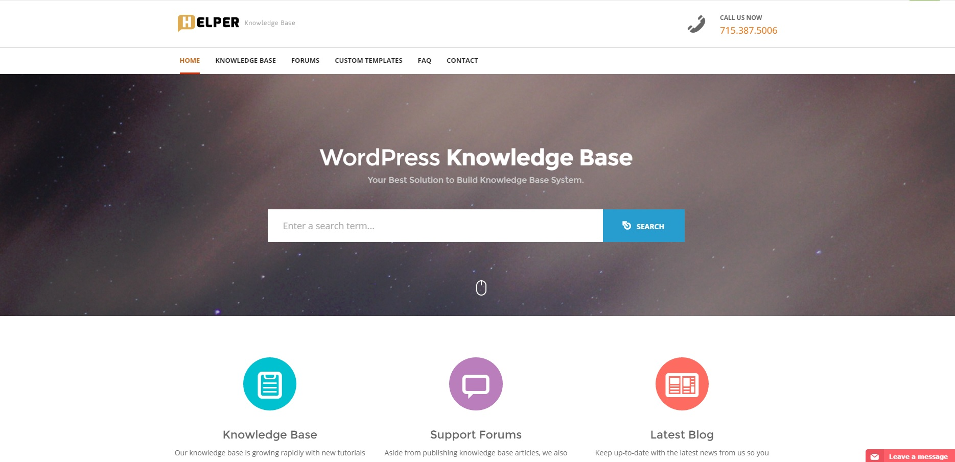 Helper Knowledge Base Support Wordpress Template Zim Templates